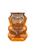#G965  Glass Bear Jar 14 oz. $21.95