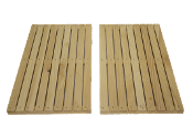 #F501  10-Frame Wooden Feeder Floats  $3.95